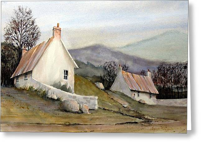 Greeting Cards - Devonshire Cottage I Greeting Card by Charles Rowland