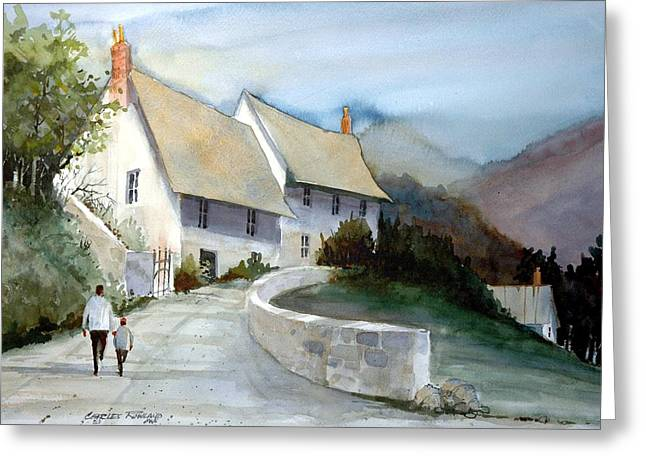 Devonshire Cottage II Greeting Card by Charles Rowland
