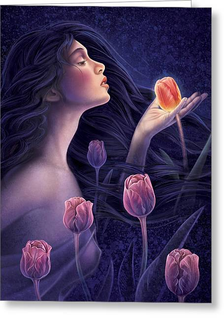 Devotee To Beauty Greeting Card