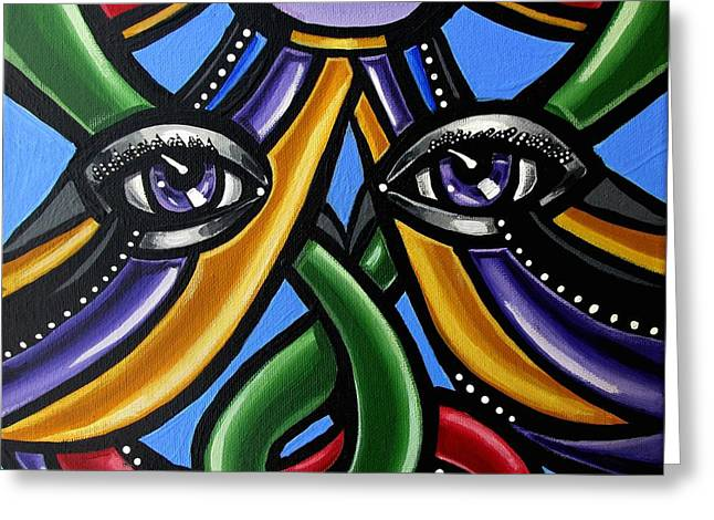 Colorful Eye Art Paintings Abstract Eye Painting Chromatic Artwork Greeting Card