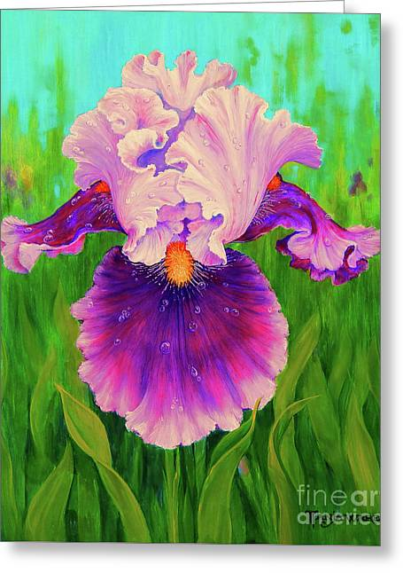Dewdrop Iris Greeting Card