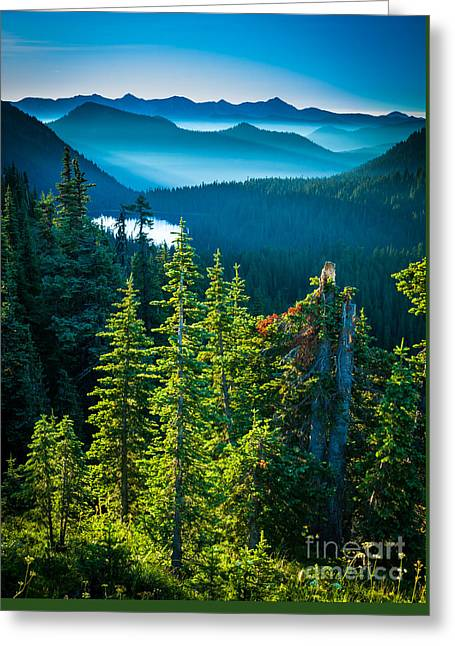 Dewey Lake Greeting Card by Inge Johnsson