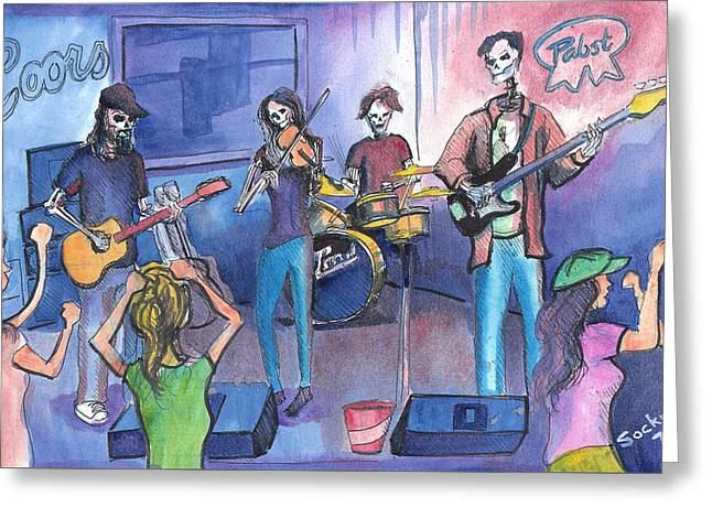 Dewey Paul Band Greeting Card
