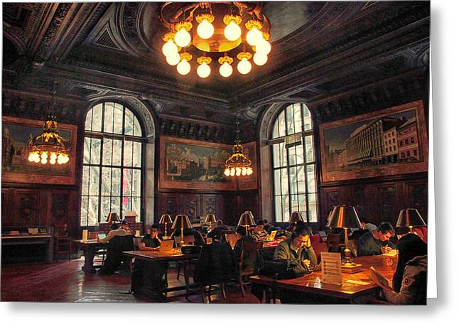 Greeting Card featuring the photograph Dewitt Wallace Periodical Room by Jessica Jenney