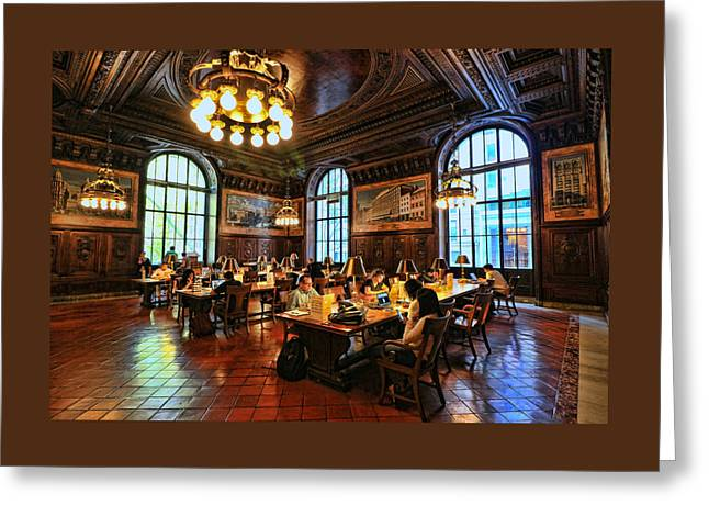 Dewitt Wallace Periodical Room - N Y Public Library Greeting Card