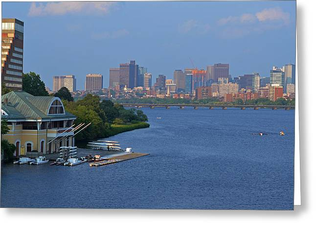 Dewolfe Boathouse Boston Ma Greeting Card