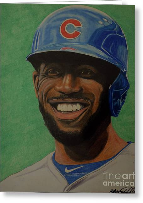 Dexter Fowler Portrait Greeting Card