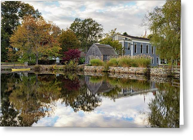 Dexter Grist Mill Reflections Greeting Card