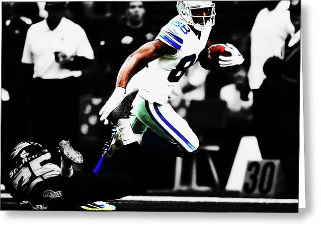 Dez Bryant Break Away Greeting Card by Brian Reaves