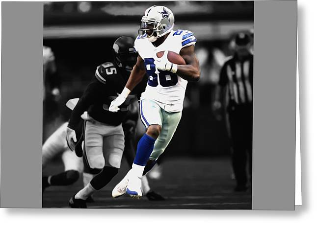 Dez Bryant On The Move Greeting Card by Brian Reaves