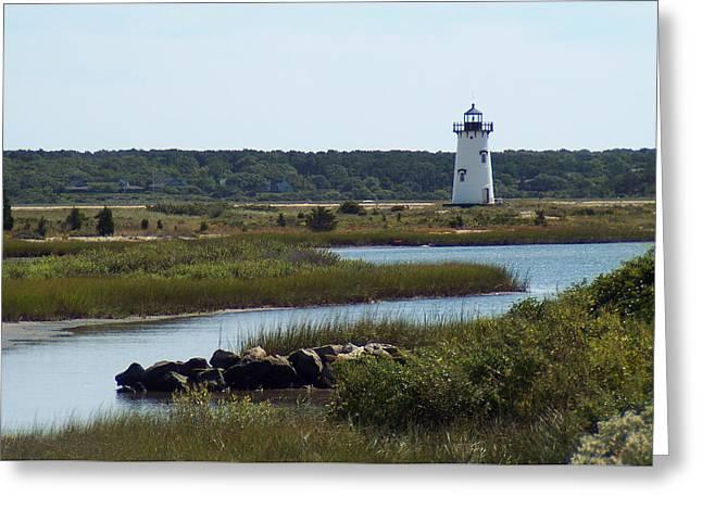 Edgartown Harbor Lighthouse Greeting Card