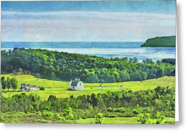 Greeting Card featuring the digital art D. H. Day Farmstead At Sleeping Bear Dunes National Lakeshore by Digital Photographic Arts