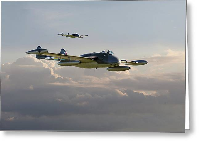 Greeting Card featuring the photograph  Dh112 - Venom by Pat Speirs