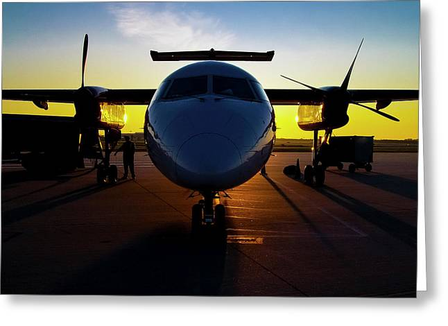 Dhc-8-300 Refueling Greeting Card