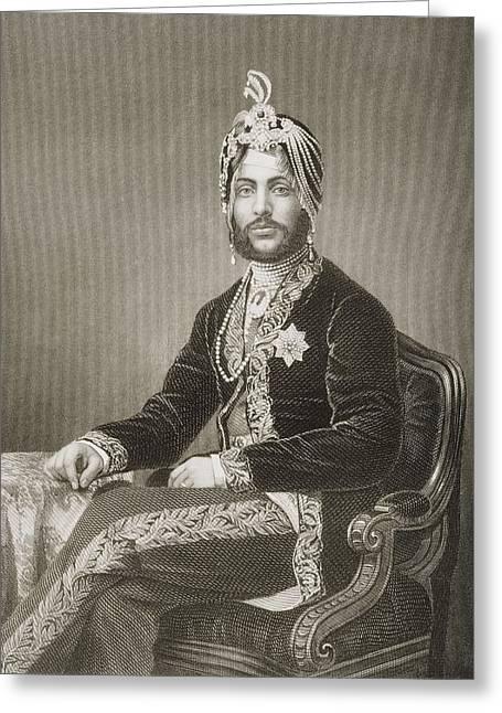 Singh Greeting Cards - Dhuleep Singh, Maharajah Of Greeting Card by Ken Welsh