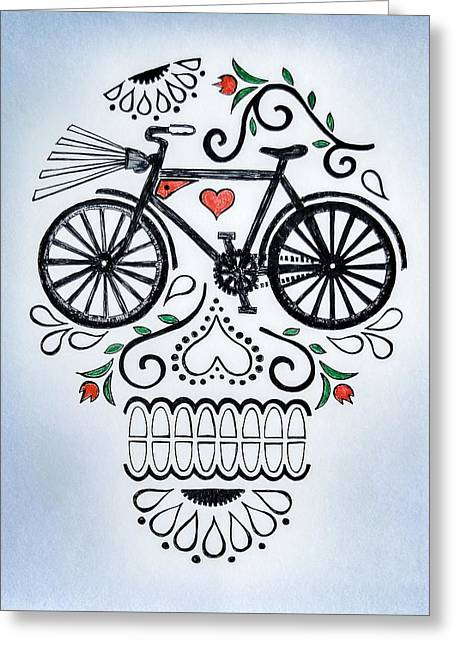 Muertocicleta Greeting Card by John Parish