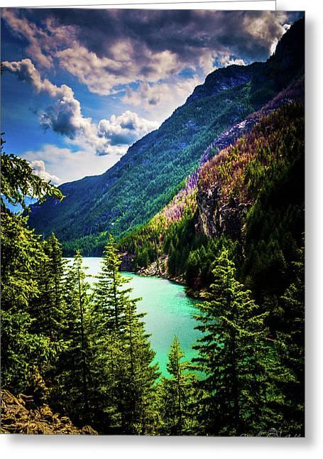 Diablo Lake Greeting Card