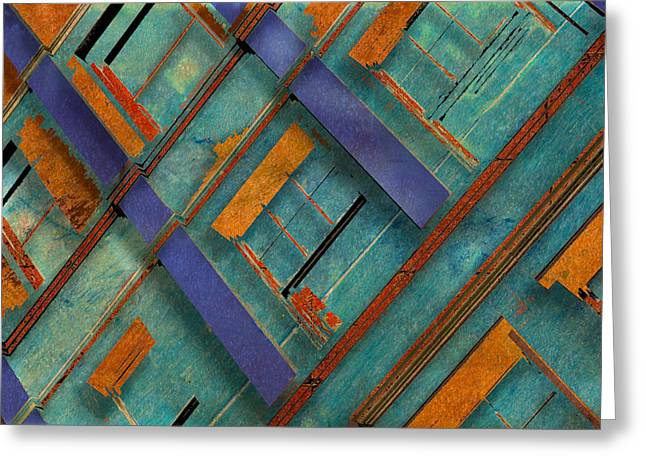 Diagonal Greeting Card by Don Gradner
