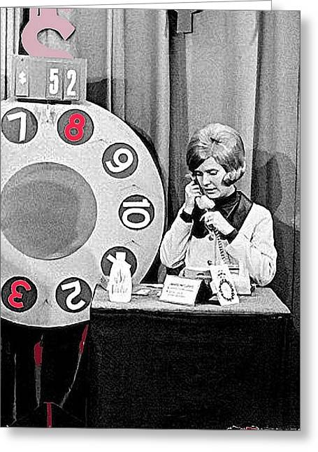 Dialing For Dollars Sue Green Kvoa Tv Tucson Arizona C.1965-2013 Greeting Card by David Lee Guss