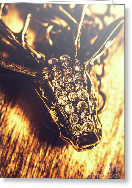 Diamond Encrusted Wildlife Bracelet Greeting Card by Jorgo Photography - Wall Art Gallery