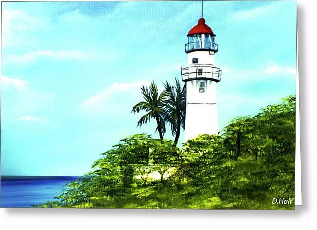 Diamond Head Lighthouse #10 Greeting Card by Donald k Hall