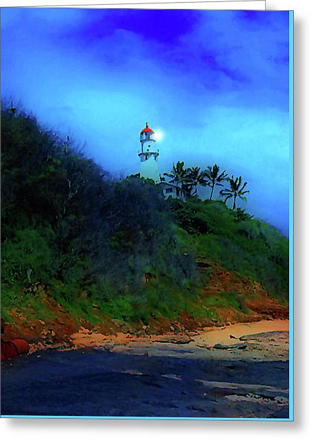 Diamond Head Lighthouse Greeting Card