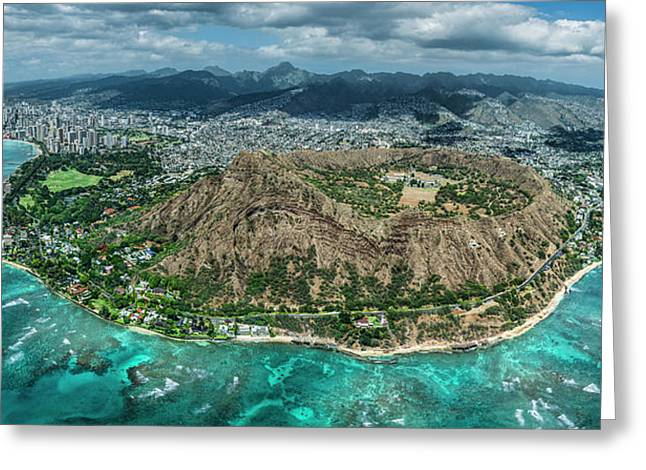 Diamond Head Overview Greeting Card