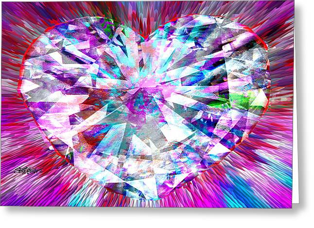 Diamond Heart Greeting Card