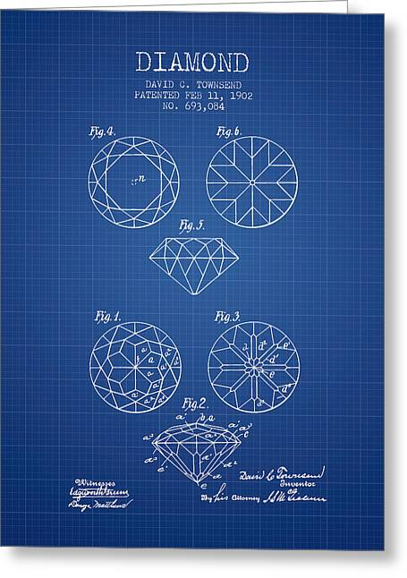Diamond Patent From 1902 - Blueprint Greeting Card