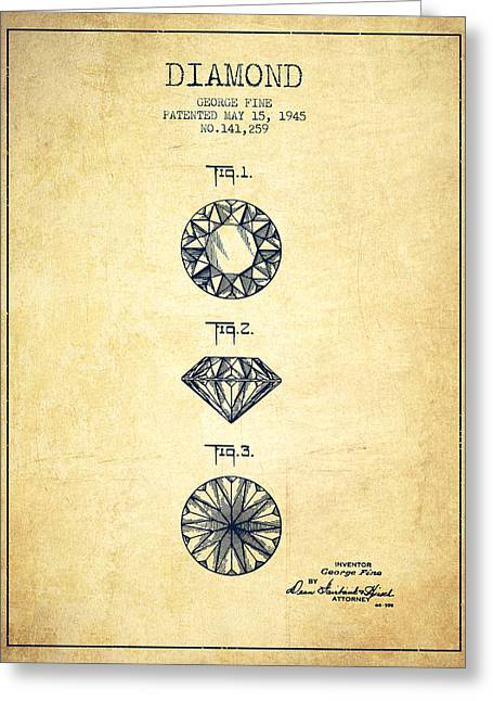 Diamond Patent From 1945 - Vintage Greeting Card by Aged Pixel