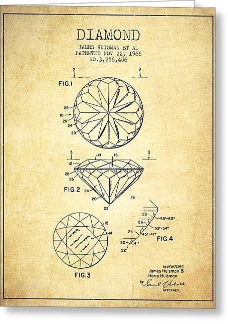 Diamond Patent From 1966- Vintage Greeting Card by Aged Pixel
