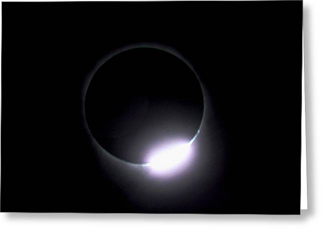 Diamond Ring During Solar Eclipse Greeting Card