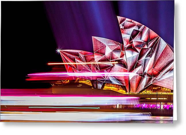 Diamond Sails Greeting Card by Az Jackson