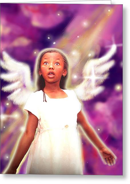 Diamond.angelic 3 Greeting Card by Nada Meeks