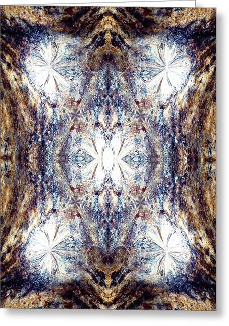 Diamonds Are A World's Dead End Greeting Card by Abstract Angel Artist Stephen K