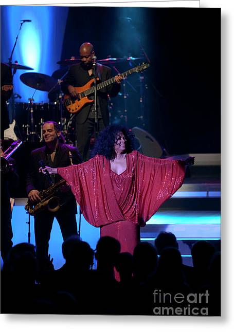 Diana Ross And Audience Greeting Card