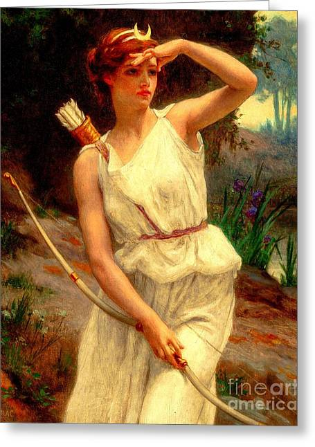 Diana The Huntress Guillaume Seignac  Greeting Card
