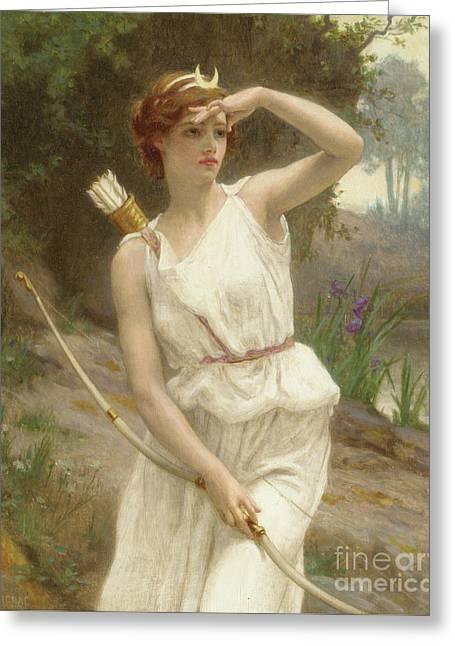 Diana, The Huntress Greeting Card