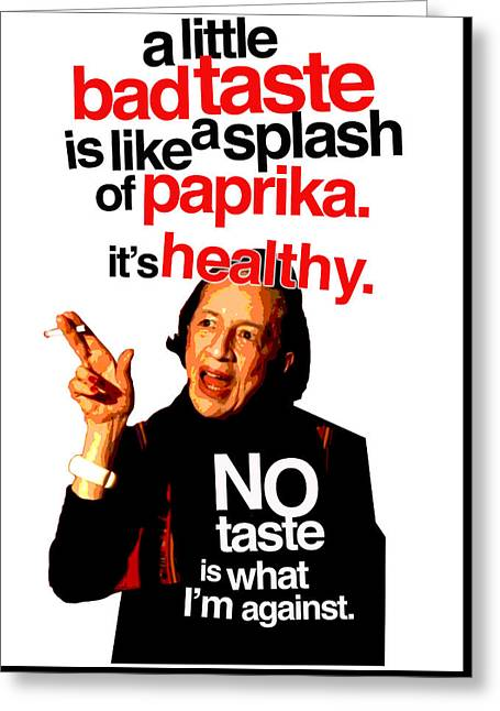 Diana Vreeland On Taste Greeting Card by Douglas Simonson