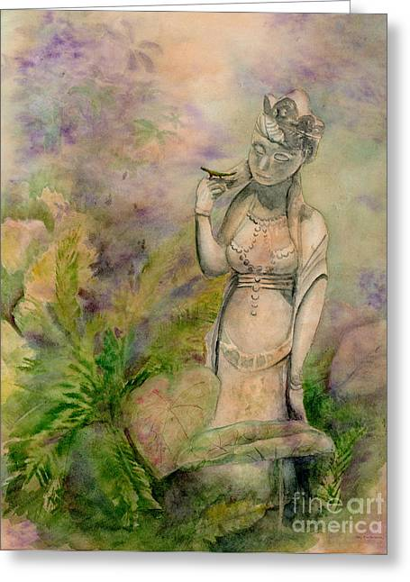 Diana's Garden Greeting Card by Amy Kirkpatrick