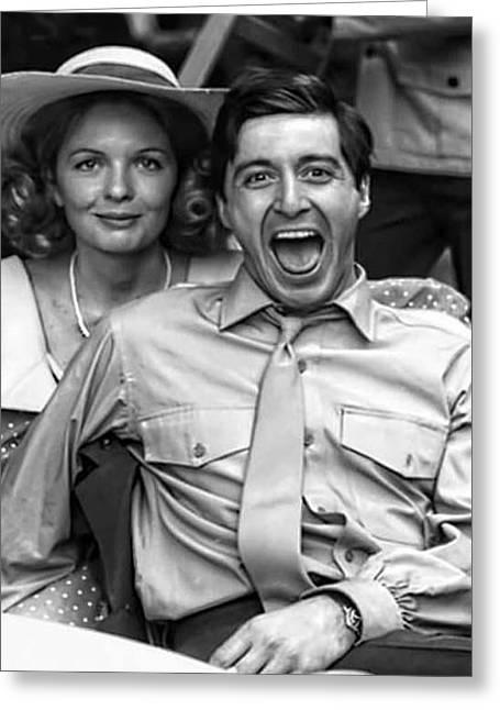 Diane Keaton Al Pacino The Godfather Set 1972 Greeting Card by David Lee Guss