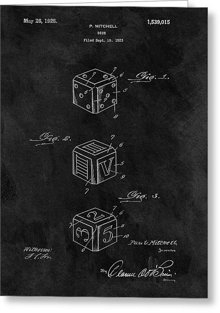 Dice Cube Patent Greeting Card
