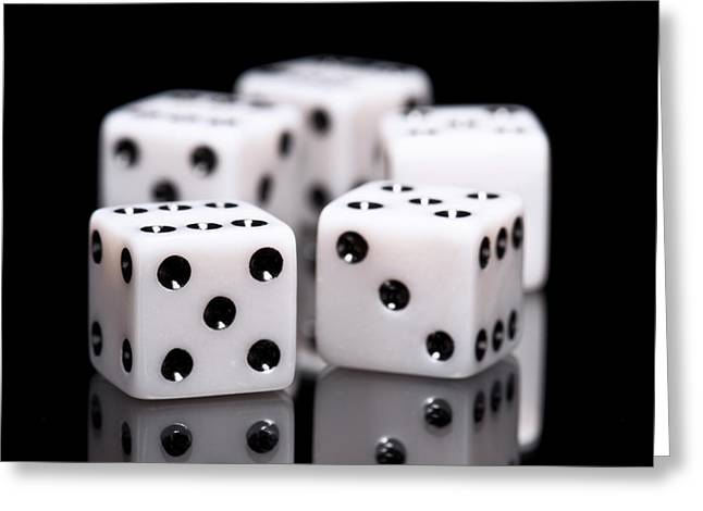 Dice I Greeting Card by Tom Mc Nemar