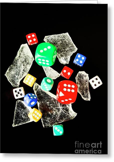 Dicing With Chance Greeting Card by Jorgo Photography - Wall Art Gallery