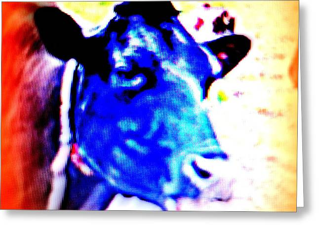 Did You Know That Cows Also Have Special Needs  Greeting Card by Hilde Widerberg