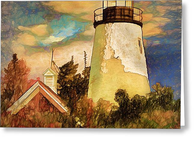 Dice Head ,castine, Maine Greeting Card by Dave Higgins
