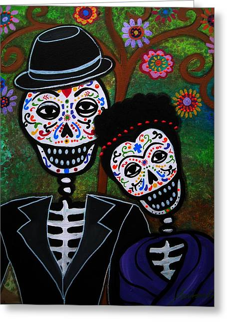 Diego rivera and frida kahlo painting by pristine cartera for Diego rivera day of the dead mural