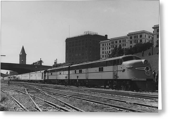 Diesel Engine Makes Journey- 1948 Greeting Card