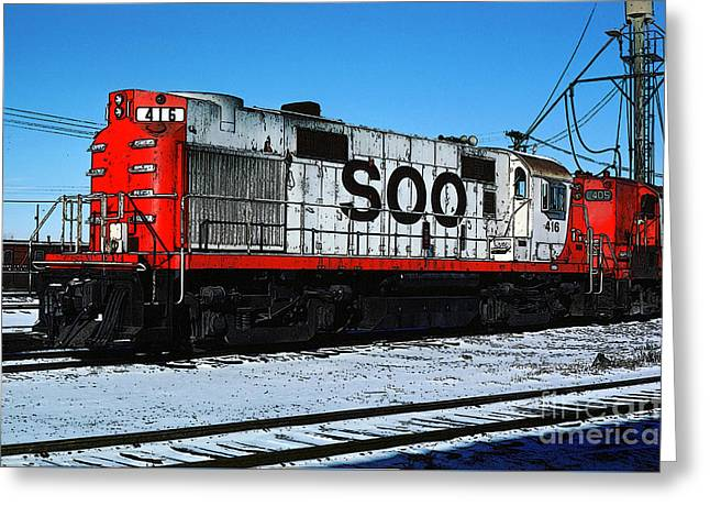 Diesel Locomotive Soo 416, Alco Rs27 Greeting Card by Wernher Krutein