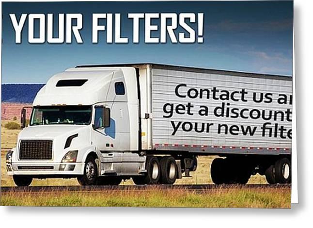 Diesel Particulate Filters Greeting Card